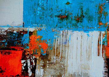 Structuurbeeld rood-blauw van Claudia Neubauer