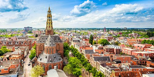 Skyline Groningen mit der Kirche von Der-Aa