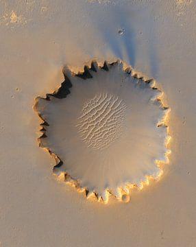 Krater op Mars van Digital Universe