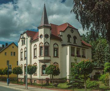 Erzgebirge Einsiedel Treinstation en stad van Johnny Flash