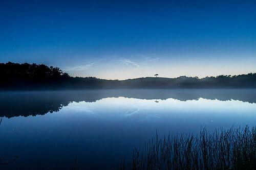 Perfecte reflectie met mist