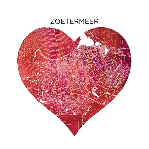Zoetermeer | Stadskaart als Wandcirkel van Wereldkaarten.Shop