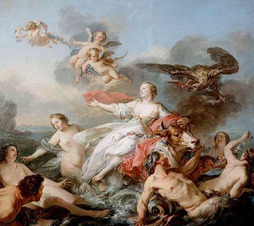 Die Entführung Europas - Jean-Baptiste Marie Pierrem - 1750 von Atelier Liesjes