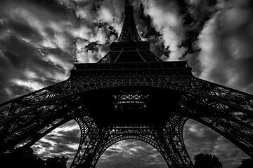 Eiffeltoren in zwartwit von René Groenendijk
