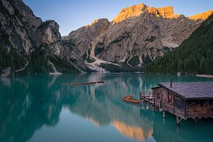Zonsopkomst bij Lago di Braies