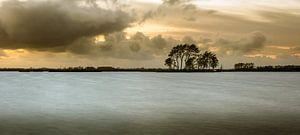 Eiland in het Sneekermeer van