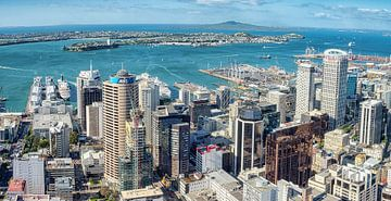 De haven van Auckland, Nieuw Zeeland van Rietje Bulthuis