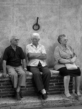 Lokale bevolking Pienza - Italië von Isabelle Val