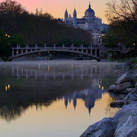 Vroege ochtend in Madrid van Harro Jansz
