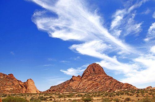Landschaft auf dem Areal der Spitzkoppe, Namibia von