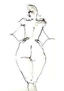 Modeltekening von Desiree Meulemans