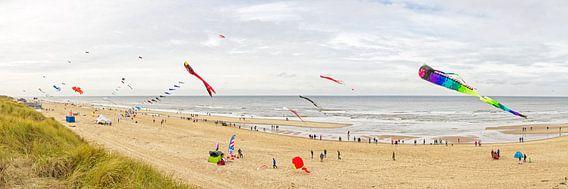 Panorama foto strand van Texel / Panoramic photo Texelbeach