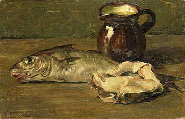 Stilleven met kabeljauw, Willem Roelofs