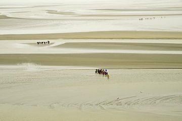 Wadlopen bij de Mont Saint-Michel  van Remco Swiers