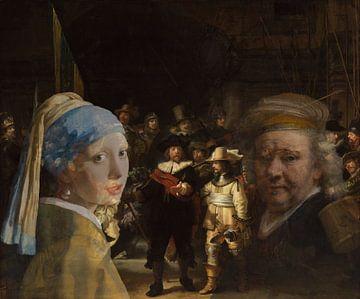 La fille à la perle rencontre Rembrandt. sur Eigenwijze Fotografie