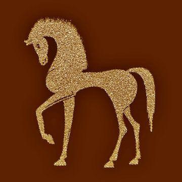Golden horse van Jolanta Mayerberg