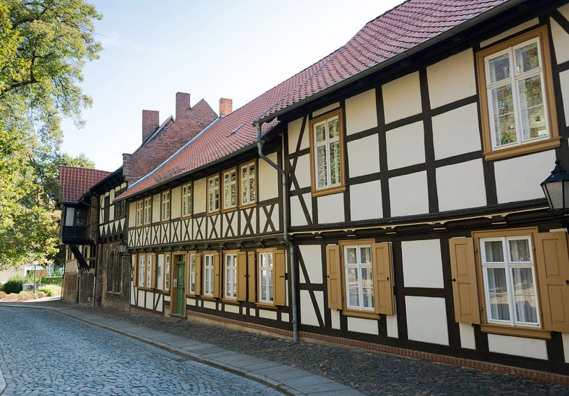 half timbered typican german houses van Compuinfoto .