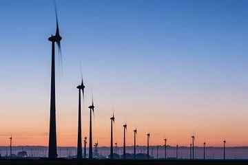 Windturbines Eemshaven van