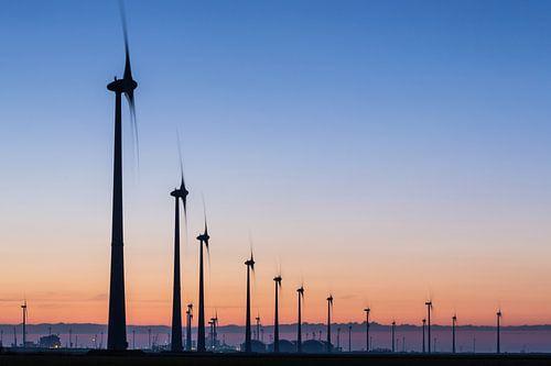 Windturbines Eemshaven van Jurjen Veerman