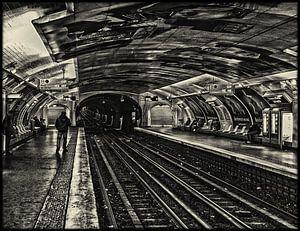 Metro Parijs Zwart Wit