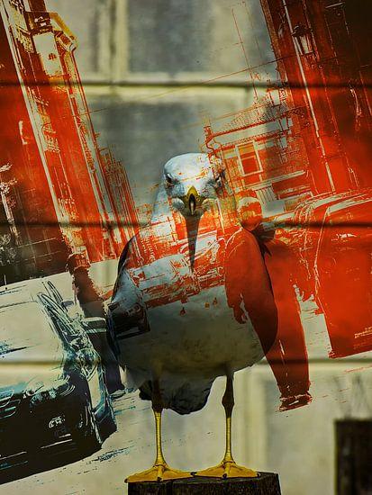 The seagull in Italy van Gabi Hampe