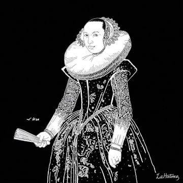 Porträt einer unbekannten Frau von Zoë Hoetmer