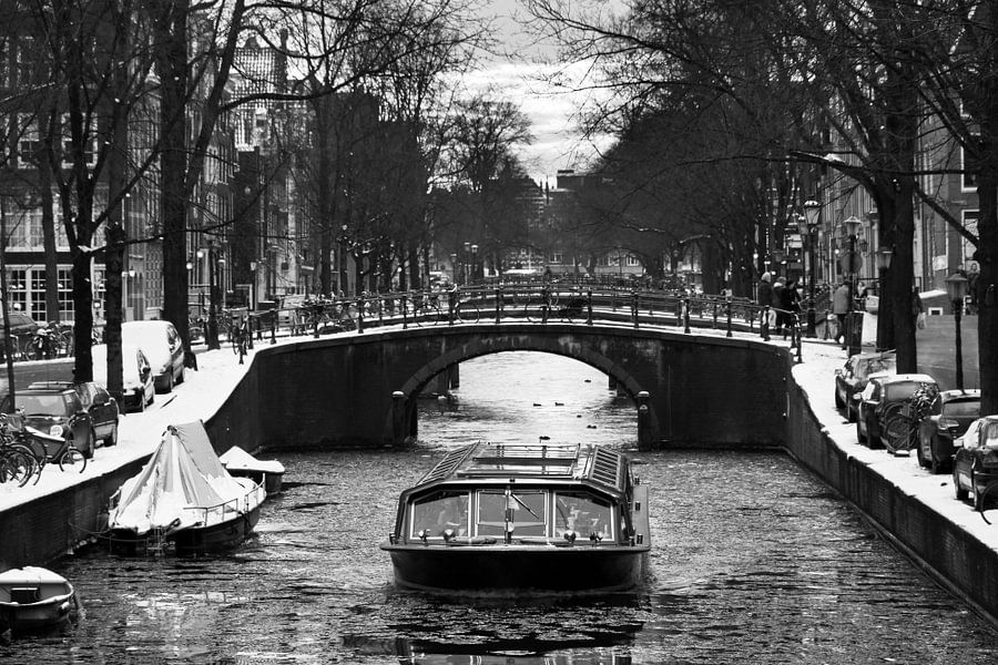 Winter rondvaart Amsterdam van Dennis van de Water