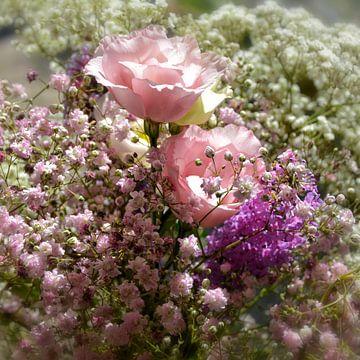 fleurs de mariage sur Claudia Moeckel