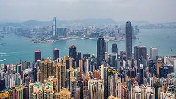 Skyline von Hongkong von Stijn Cleynhens