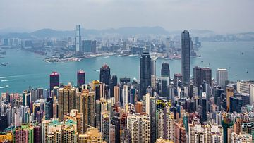Hongkong skyline van Stijn Cleynhens