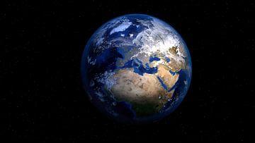 Uitlichting van De Aarde van Digital Universe