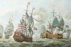 La bataille navale de 4 jours en juin 1666