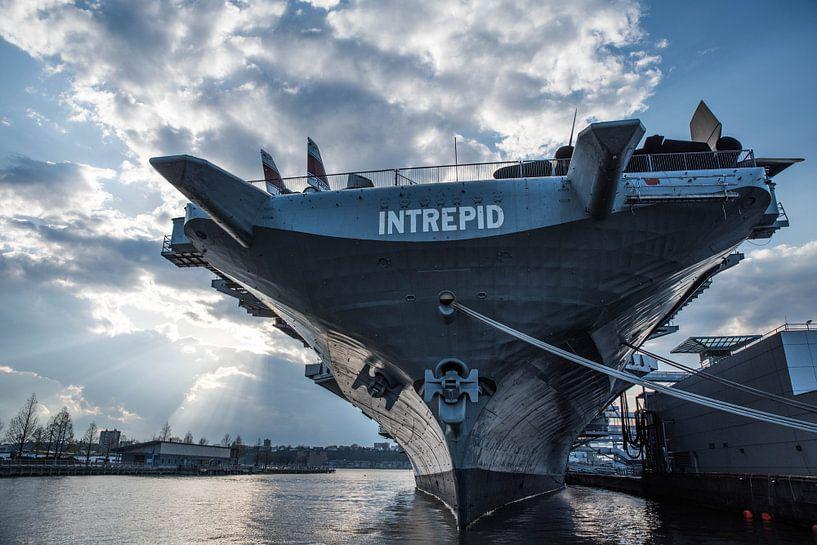Intrepid Marine schip   New York Haven   Photograph   Art print van Mascha Boot