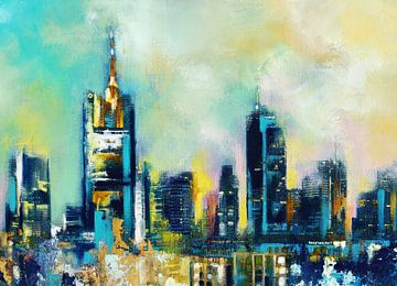 Frankfurt Skyline van Maria Kitano