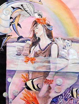 Venus met anemonen van Lucia Hoogervorst
