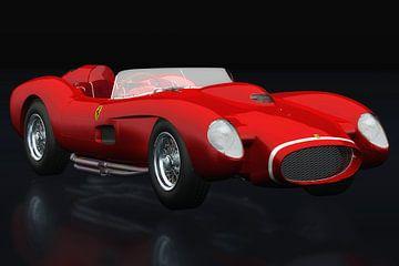 Ferrari F250 Testarossa drie-kwart zicht van Jan Keteleer