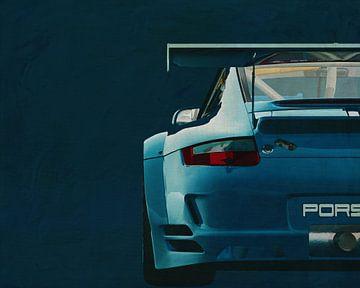 Porsche GT3 RS Cup 2008 hinten von Jan Keteleer