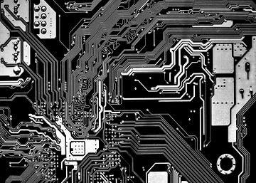 Schwarz-Weiß-Motherboard von Alex Hiemstra