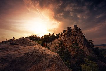 Teufelsmauer bei Sonnenuntergang von Oliver Henze