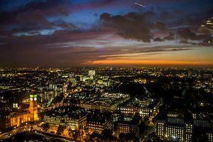 London Late Sunset van Maurice van Miltenburg