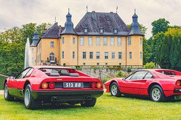 Ferrari 512 BB of Berlinetta Boxer Italian 1970s en Ferrari 308 GTB 1980s Italiaanse sportwagens ten van Sjoerd van der Wal