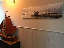 Klantfoto: Haven Volendam van Hielke Roelevink, op canvas