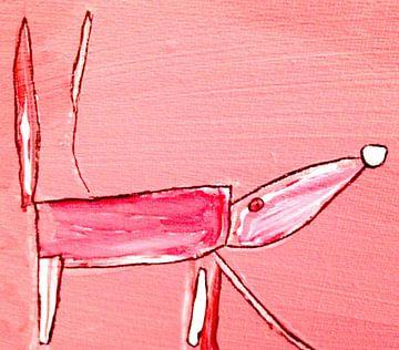 Roze beest van Petra de Kroon