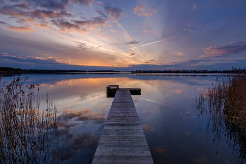De steiger bij zonsondergang