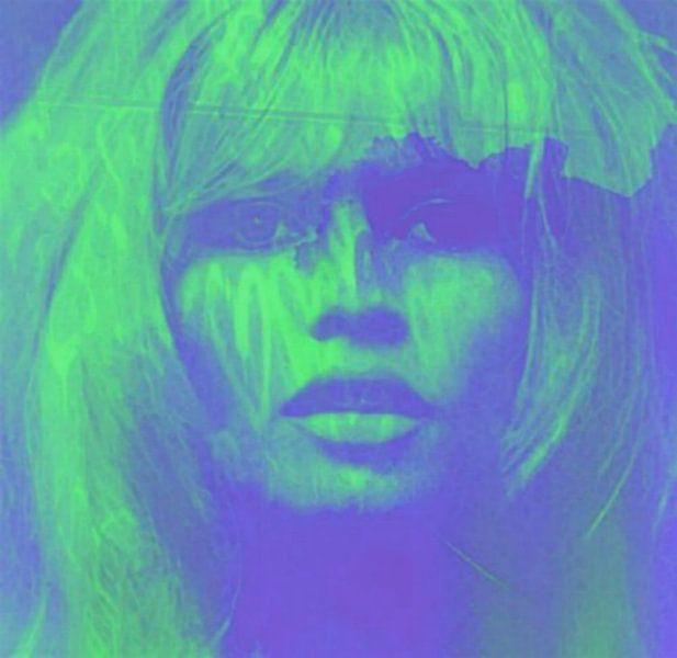 Brigitte Bardot Love Pop Art - 24 Colours - Neon Green Game van Felix von Altersheim