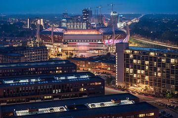 Philips-Stadion während der blauen Stunde von Mitchell van Eijk