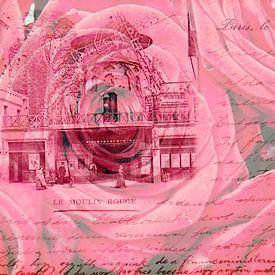 Moulin Rouge Parijs - Double Exposure van Melanie Rijkers