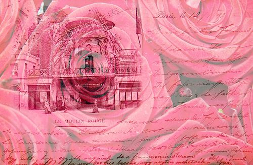 Moulin Rouge Parijs - Double Exposure
