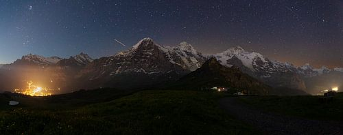Sternenhimmel über dem Berner Oberland