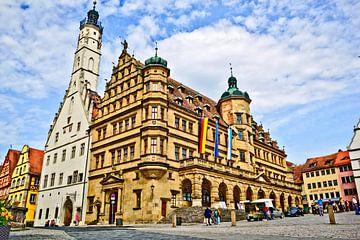 Place de la ville de Rothenburg ob der Tauber sur Roith Fotografie